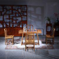 新中式茶台非洲花梨客厅家具五件套_红木家具价格及图片_941红木网