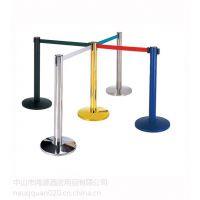 供应不锈钢银行一米线栏杆座护栏围栏警戒线2米3米伸缩柱可印字价格