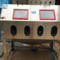 液体喷砂机精密磨具水喷砂机双工位不锈钢液体喷砂机水喷砂机