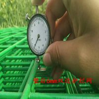 德兰浸塑双边丝果园种植防护护栏网厂家现货圈山圈地园林园艺隔离安全绿色铁丝焊接围栏网