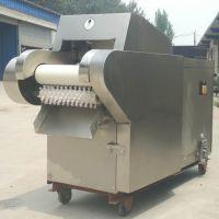 西安市电动不锈钢型蒜台切丁机 启航220v柠檬切片机 大葱芹菜切段机厂家