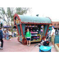 商场木质卡通售卖屋 儿童饮料售卖亭 小吃售货屋