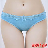厂家外贸全棉女式三角裤速卖通ebya货源女士内裤蕾丝边女短裤批发