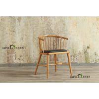 原木餐厅桌椅定制 现代餐厅实木桌椅 上海韩尔家具厂供应
