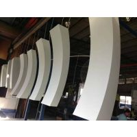 广东德普龙 外墙仿木纹弧形铝方通 厂家供应