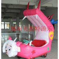 贵州广场儿童充气电瓶车气模车儿童福音庙会游乐
