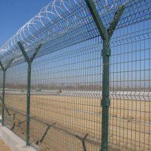 肇庆围墙金属防护栏 广州机场镀锌隔离网定制 东莞刀刺网