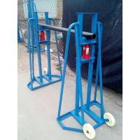 [吉达批发供应3—12T梯形放线架/液压电缆线盘支架/卧式放线架/立式架机