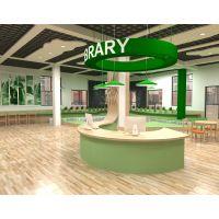 图书馆装修设计施工中小学图书馆设计阅览室设计