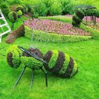 哪有做植物雕塑的厂家 绿琴大厂批发绿雕 仿真绿雕 景观园林绿化动物雕塑 树脂制作