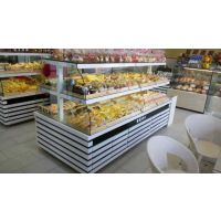 珠海面包店加盟烘焙货架常温面包柜中岛柜定制