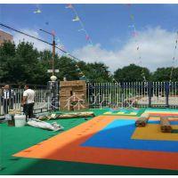 贵阳花溪幼儿园室外悬浮拼装地板莱森小米格165g软质安全地垫厂家直销