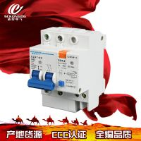 低压断路器批发 dz47微型断路器dz47le漏电断路器2p漏电保护器