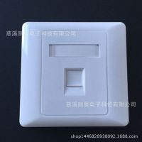 供应安普型雅白色网络语音插座信息面板、单口网络面板
