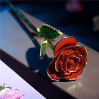 黛雅DAYA ROSE 情人节表白神器镀金玫瑰花 天然玫瑰花材手工制作厂家批发