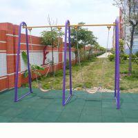 龙门县户外健身器材大小规格可定做 社区公园健身路径双联门型秋千