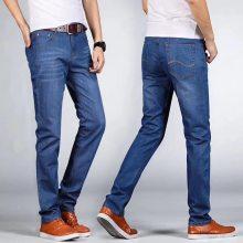 便宜中年牛仔裤男 直筒蓝色男士牛仔裤 欧美便宜牛仔裤高质量