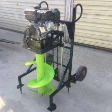 佳鑫牌汽油螺旋式打洞机 轻便手提式汽油植树挖坑机 拖拉机后置种植挖坑机