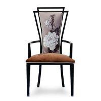 大鲁DL0026金属喷漆牡丹椅