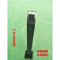 厂家供应 门禁刷卡机 读头 按钮 感应 方形 铁艺 立柱 黑色PY-PKM-L 蓬远