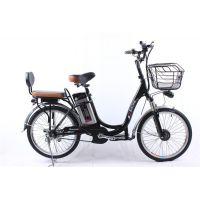 英蓝德24寸铝合金锂电电动自行车 48v大容量可拆卸电池 外卖配送