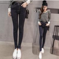 便宜牛仔裤韩版高腰女士铅笔裤批发杂款尾货牛仔裤清仓便宜小脚裤