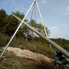 铝合金三角扒杆 山区电线立杆机械 铝合金立杆机 洪涛电力 厂家直销