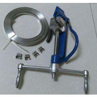 品牌:欧讯;band tool; 不锈钢扎带机;紧带机;杆塔固定不锈钢收紧器