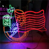 灯熠 生产路灯杆中国梦图案灯 LED中国结造型灯 圣诞节商场装饰灯