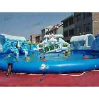 海洋波浪水滑梯可移动支架游泳池厂家直销