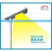 农村太阳能路灯20w一体化太阳能庭院LED人体红外感应照明灯