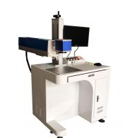 直销皮革塑料激光打标机 纸盒二维码图案激光打标机