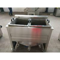 食品油炸机 带搅拌自动出料油炸机 适合多种产量 山东供应麻花连续式油炸机