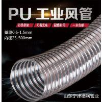 优质木工伸缩雕刻机工业风管25*0.9mmpu镀铜钢丝伸缩风管玻璃清洗机软管通风排气管