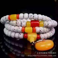 厂家供应批发仿星月菩提子 正月菩提108佛珠手链 蜜蜡款星月菩提