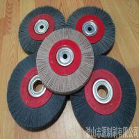 直销刀具钝化抛光轮 五金工具进口杜邦碳化硅磨料丝抛光轮刷碳钢专业刷 志源