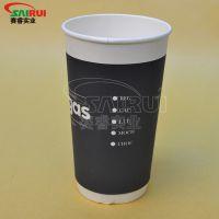 20盎司中空杯特价销售,精品双层纸杯,纸杯起订量
