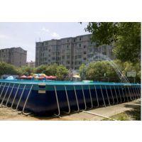 夏天大人也能玩的支架水池哪买 300平米支架水池什么价 移动镀锌钢管水池