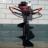 多功能挖坑机 汽油动力手推挖坑机 大直径电线杆打坑机直销