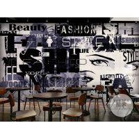 现代时尚涂鸦美女艺术背景墙|3D客厅电视沙发背景墙壁画墙纸 无缝壁画生产厂家