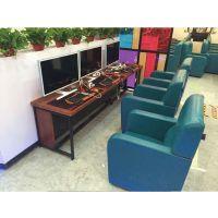 连体网吧桌椅供应-温州网吧桌椅报价-培荣家具