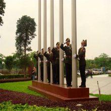 耀恒 嘉兴南湖万达广场 3根16米国旗杆 准备安装