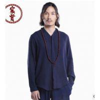 唐装中国风衬衫上衣秋季改良复古休闲长袖汉服男