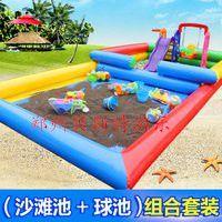河南商丘儿童充气沙滩池真心好玩又吸引力
