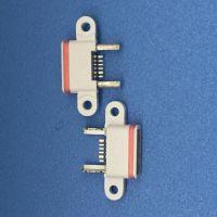 MICRO USB 5PIN AB型防水母座 防水等级IP67 两个固定脚 白色大电流