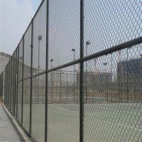 体育场围网 热镀锌勾花网 菱形铁丝网护栏 篮球场围栏网墨绿色