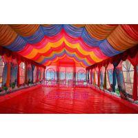 大型流动餐厅婚庆气帐篷婚宴酒席充气大棚红白喜事充气帐篷可定做高强涤纶丝夹网布