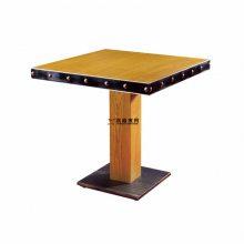 工业复古风主题餐厅桌子,两人位简约主题餐桌