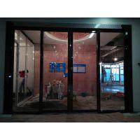 深圳迎利钢化玻璃感应门办公室自动平移门整套门