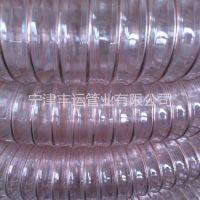 丰运供应封边机吸尘管PU透明螺纹管镀铜钢丝伸缩管